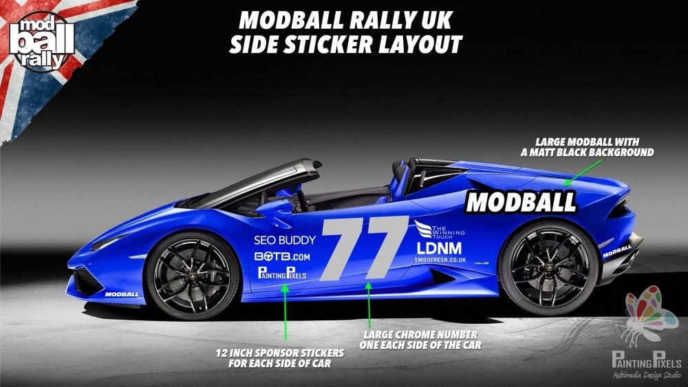 Painting Pixels Modball Rally Sponsor UK Motorsport Animation Digital Marketing Graphics - 2